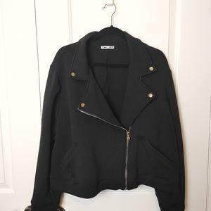 Black Plus Size Moto Style Blazer Coat Size 3x